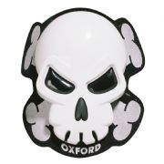Oxford Knee Sliders Skull White OX682